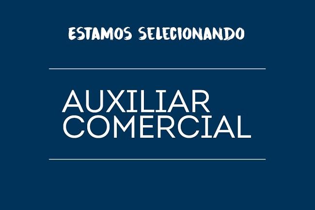 AUXILIAR COMERCIAL – Remuneração: R$ 1.500,00 + Comissão + VA + VT. Local RS